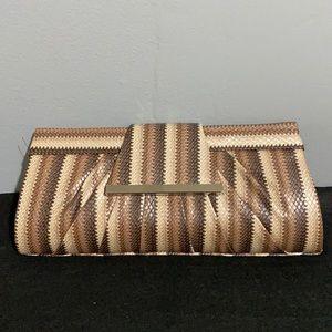 Bijoux Terner Striped Clutch Handbag Purse